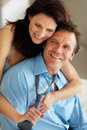 Smiling couple in a sensual mood Royalty Free Stock Photo