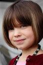 Smiling Coy Child Stock Photos