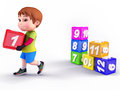 Smiling cute boy with blocks Royalty Free Stock Photo