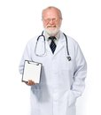 Smiling doctor  with health record Royalty Free Stock Image
