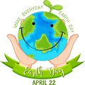 Smiling earth day poster