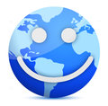 Smiling Earth globe Royalty Free Stock Images