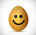 Smiling egg illustration design over a white background Royalty Free Stock Photography