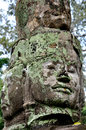 Smiling face in Angkor Wat Royalty Free Stock Images