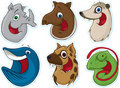 Smiling Face Fridge Magnet/Stickers #7 (Animals) Royalty Free Stock Photo
