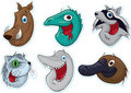 Smiling Face Fridge Magnet/Stickers  (Animals) #2 Royalty Free Stock Photo