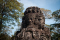 Smiling faces in bayon temple angkor cambodia Stock Photography