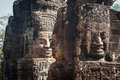 Smiling faces in bayon temple angkor cambodia Royalty Free Stock Photo