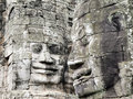Smiling Faces at Bayon Temple, Cambodia Stock Image