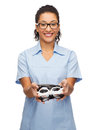 Smiling female african-american doctor or nurse Royalty Free Stock Photo
