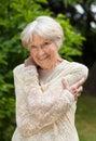 Smiling friendly senior woman Royalty Free Stock Photo