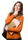 Smiling friendly young female student. Stock Photography