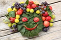 Smiling fruit face  Stock Photography