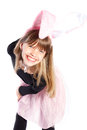 Smiling girl with bunny ears Royalty Free Stock Photos