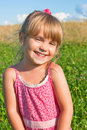 Smiling girl on nature Royalty Free Stock Images