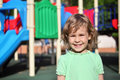 Smiling girl on playground Royalty Free Stock Photo
