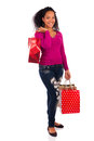 Smiling girl with shopping bags Royalty Free Stock Photo