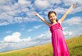 Smiling girl in the sun Stock Image