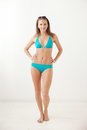 Smiling girl in swimwear beautiful posed Royalty Free Stock Photography
