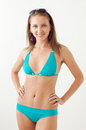 Smiling girl in swimwear beautiful posed Stock Photography