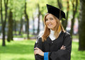 Smiling graduate girl Royalty Free Stock Photography
