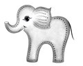 Smiling gray elephant in profile Royalty Free Stock Photo