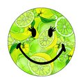 Vector Illustration of a smiley with limes