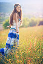 Smiling gypsy woman Royalty Free Stock Photo