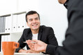 Smiling handsome businessman in the meeting Royalty Free Stock Photo