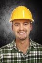 Smiling handyman portrait Stock Images