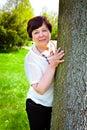 Smiling happy beautiful elderly woman Royalty Free Stock Photo