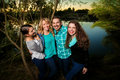Smiling Happy Family by a Lake Royalty Free Stock Photo