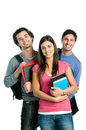Smiling happy students Royalty Free Stock Photo
