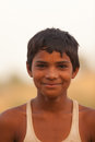 Smiling Indian boy near Karauli in India Royalty Free Stock Image