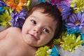 Smiling Infant Girl Stock Images