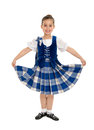 Smiling irish highland dancer a in celtic tartan Royalty Free Stock Image