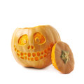 Smiling Jack-O-Lantern pumpkin isolated Royalty Free Stock Photo