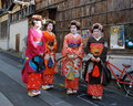 Smiling Japanese Geisha Stock Photography