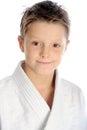 Smiling karate boy Royalty Free Stock Photo