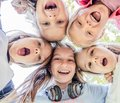 Smiling Kids close up Royalty Free Stock Photo