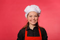 Smiling kitchen girl Royalty Free Stock Photo