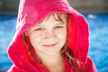 Smiling little beautiful girl with pool water Stock Photography