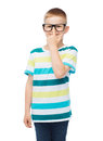 Smiling little boy in eyeglasses Royalty Free Stock Photo