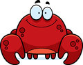 Smiling little crab a cartoon illustration of a Royalty Free Stock Image