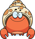 Smiling little hermit crab a cartoon illustration of a Royalty Free Stock Photo