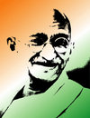 Smiling mahatma Royalty Free Stock Photography