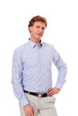 Smiling man in casual business outfit isolated Stock Photo