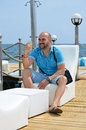 smiling man enjoying the summer vacation Royalty Free Stock Photo
