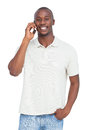Smiling man on the phone Royalty Free Stock Photo