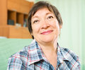 Smiling mature woman in casual clothes Royalty Free Stock Photo